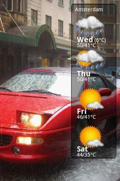 Weather forecast cars