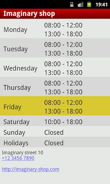 My Opening Hours
