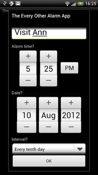 The Every Other Alarm App