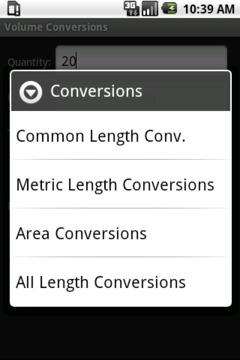 Volume Conversion