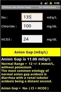 Clinical Lab ( Anion Gap )