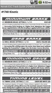 Novak ESC Track Guide