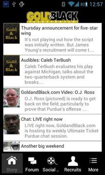 GoldandBlack.com Mobile