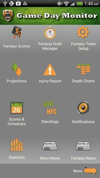 NFL Game Day Monitor - Fantasy