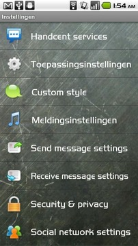 Handcent SMS Dutch Language Pack