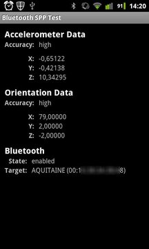 Bluetooth SPP Test