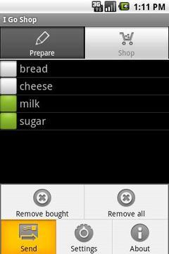 """""""我去""""购物清单软件"""