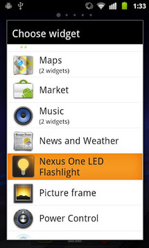 Nexus One LED Flashlight
