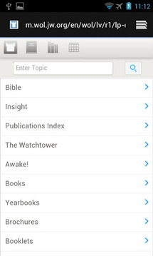 Watchtower Library Shortcut