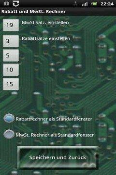 Rabatt und MwSt Rechner