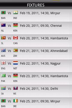 World Cup Cricket - Live Score