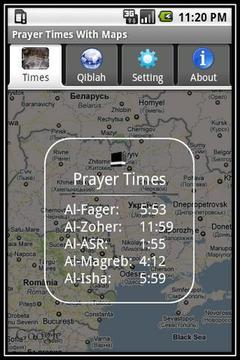Prayer Times With Google Maps