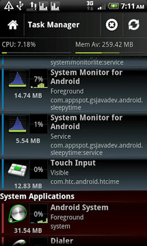 System Monitor Lite 4 Android