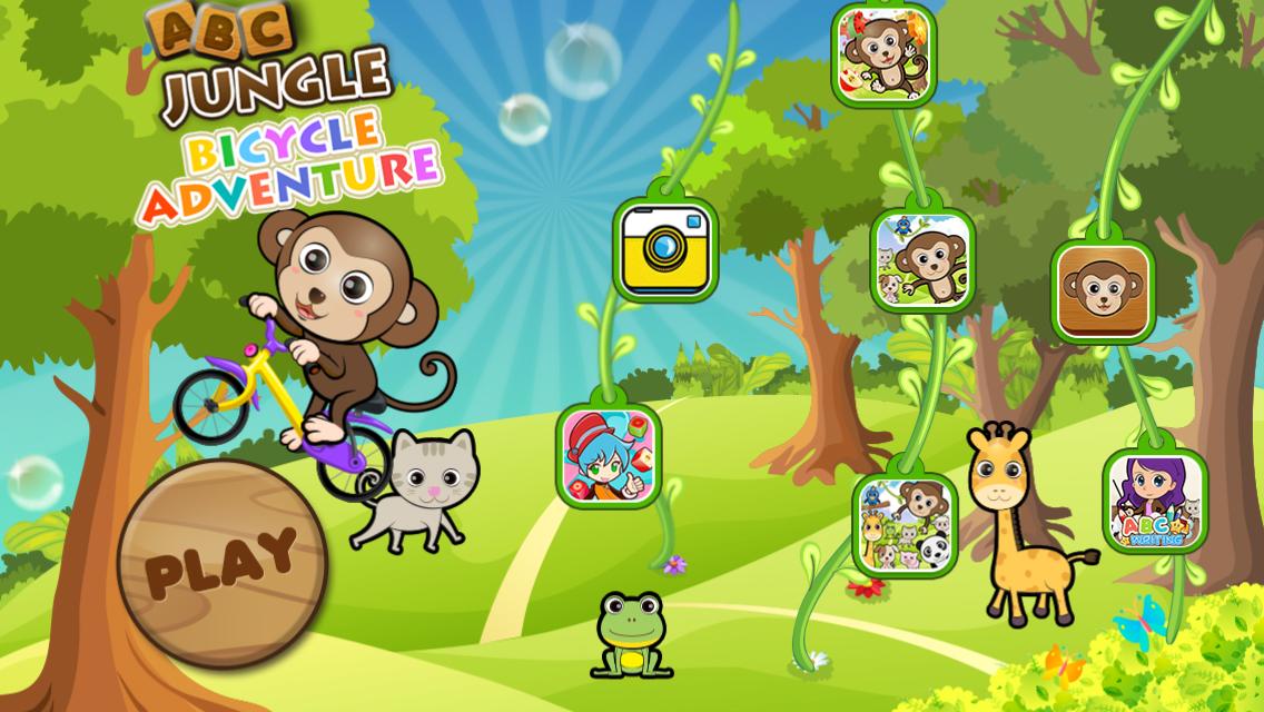 abc丛林自行车历险-适合学龄前儿童,婴儿,英语教育游戏