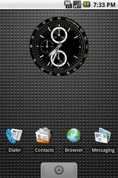 Tachymetre Clock Widget 2x2