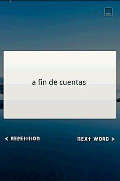 Flash Card Widget Idioms ES-EN