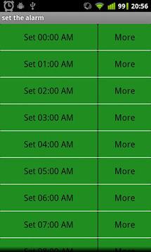 闹钟轮式列表