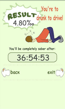 Blood Alcohol Calculator+TIMER