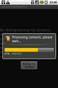 Contacts Backup Trial