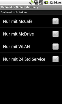 McDonald's Finder - Germany