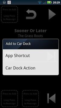 Custom Car Dock with swipe