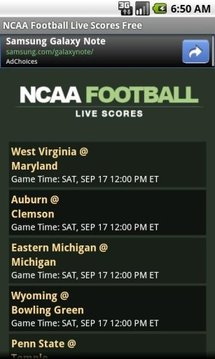 NCAA Football Live Scores FREE