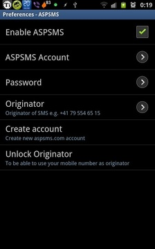 WebSMS: ASPSMS Connector