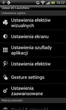 GO LauncherEX Polish language