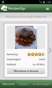 Recipes2go - Rezepte unterwegs