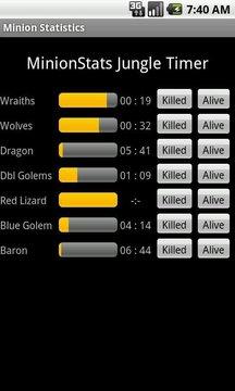 League of Legends Minion Stats