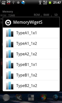 MemoryWidgetS