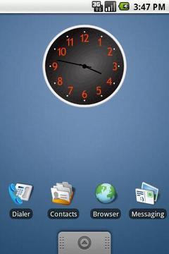Black Clock Widget 2x2