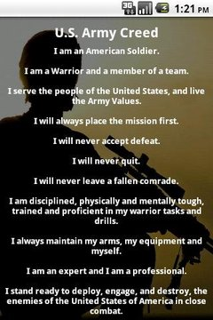 U.S. Army Soldier's Creed