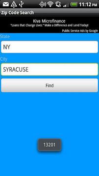 Zip Code Search