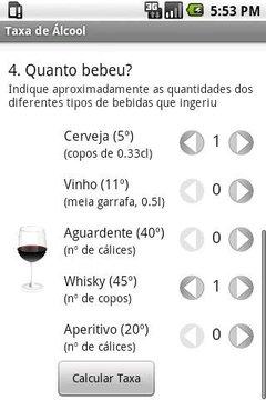 Taxa de Álcool no Sangue