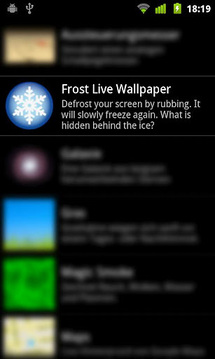 Frost Live Wallpaper
