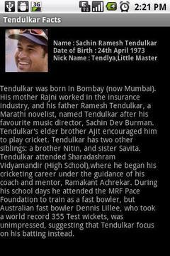 Tendulkar Facts