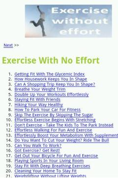 How To Exercise With No Effort