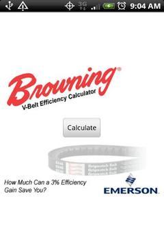 V-Belt Efficiency Calculator