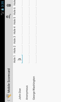 Mobile Scorecard