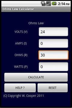 欧姆定律计算器