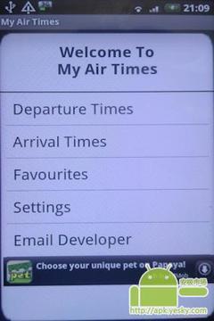 我的航班时间