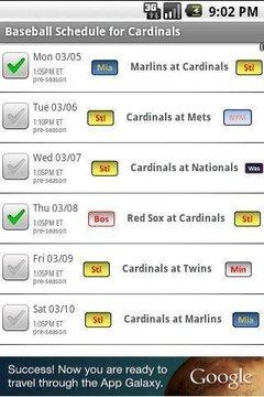 Baseball Schedule 2013