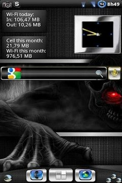 Metal Look Clock widget