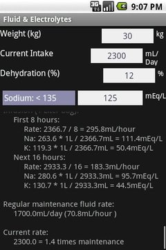 Fluid Electrolytes