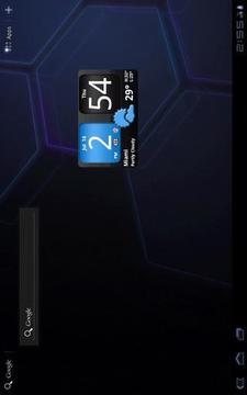 FlipClock AhMan BLUE 4x2
