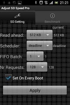 Adjust SD Speed