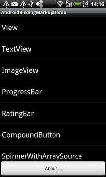 Markup Demo: Android Binding