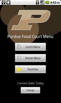 普渡大学食品法院菜单
