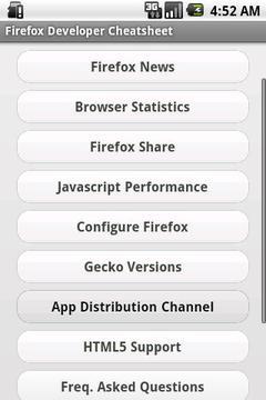 Firefox Developer Cheatsheet